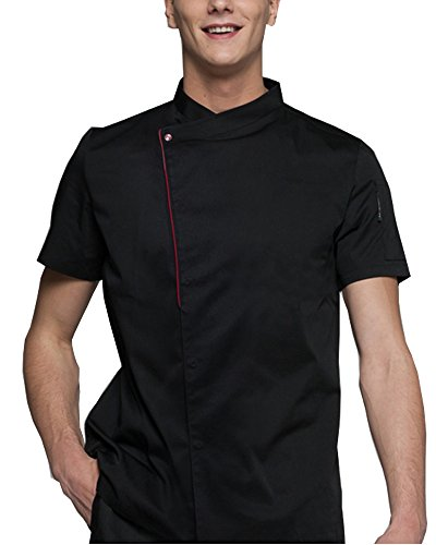 Boupiun Summer Short Sleeve Chef Coat Fashion Cool Unisex Chef Jackets Breathable Comfortable by Boupiun
