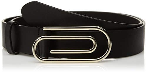 Armani Jeans Women's Paper Clip Buckle Belt, black, L by ARMANI JEANS