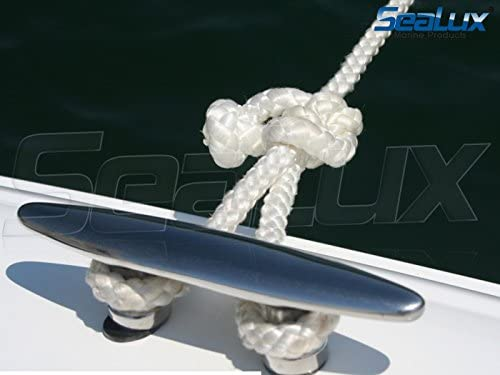SeaLux 316 SS HEAVY DUTY 6 STUD MOUNT CLEAT for Marine Boat mooring rope tie Luxco Industries Mfg.