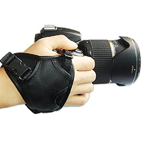 First2savvv OSH0301 new Artificial triangle leather digital camera SLR hand strap grip for Nikon D7000 D90 D5100 D5000 D3100 D3300 COOLPIX L830 COOLPIX L330 COOLPIX P530 COOLPIX P600 FUJIFILM X-T1 with UV lens filter protection bag case