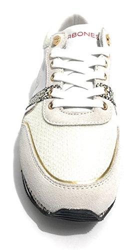 Mujer Bianco Para Borbonese nero Zapatillas ZxAwHqP