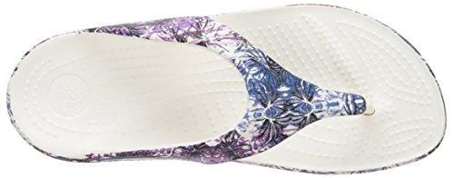 Crocs Sloanesftflrflp - Sandalias Mujer Multi/White