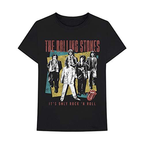 Rolling Stones Rock N ROLL Band Black T-Shirt