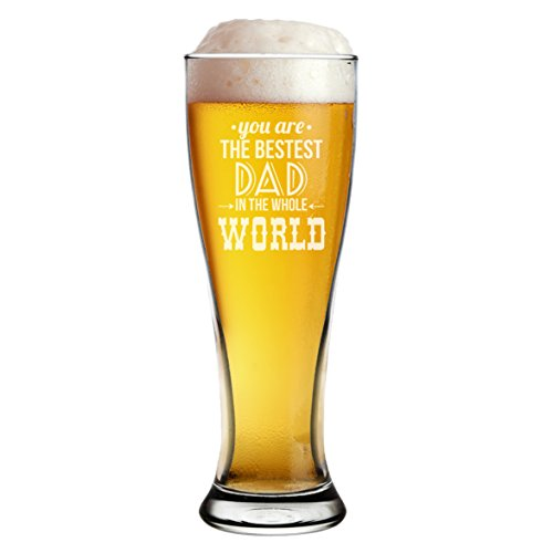 My Personal Memories Fun 16 oz Pilsner Glass for Men - Funny Beer Gift for Dad, Father's Day, Him, Her, Birthdays (Bestest Style Clear - Beer Pilsner Style