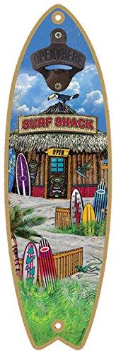 - SJT ENTERPRISES, INC. Surf Shack Surfboard Bottle Opener Featuring Art from Michael Messina, 5