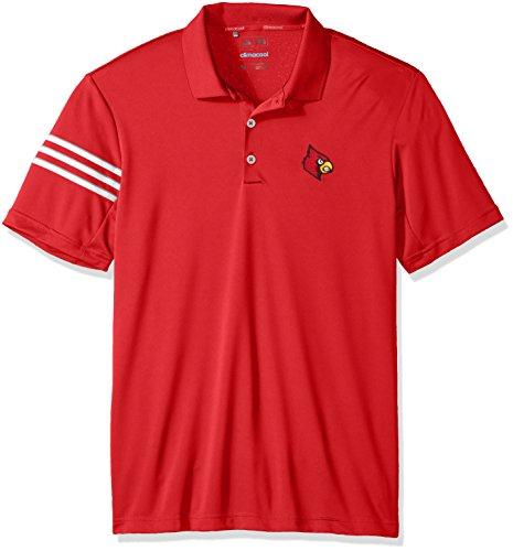 NCAA Louisville Cardinals Adult Men Spring Game 3-Stripe Polo,Medium,Power (Cardinal 3 Stripe)