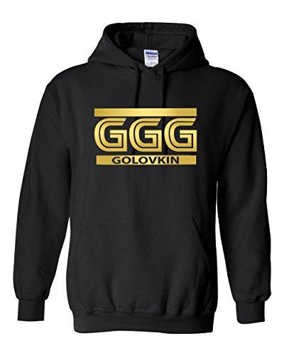 Mens Unisex Hooded Ggg Golovkin Sweatshirt Fleece Black Xl