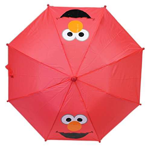 (Sesame Street Elmo Face Red Colored Kids Umbrella)