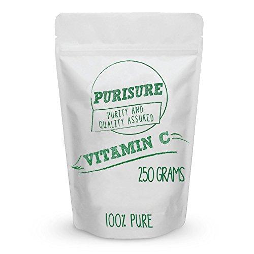 Vitamin C Powder 250g (250 Servings), Pure Ascorbic Acid, Common Cold Relief, Immune System Support, DIY Cosmetics for Beautiful Skin, Non GMO, Food Grade