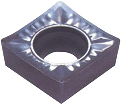 """Cobra Carbide 72000 Solid Carbide Turning Insert, Uncoated (Bright) Finish, CCGX Style, Molded Chipbreaker, 1/4"""" Insert Size, 3/32"""" Thickness, 1/64"""" Corner Radius (Pack of 10)"""