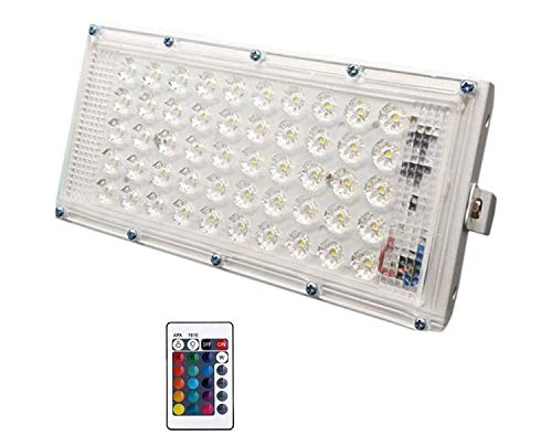 Vrct RGB LED Flood Light Multi Color with Remote Waterproof Landscape IP66 (60 Watt)(Pack of One)