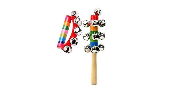 Amazon.com: 2 piezas de juguetes para bebé, niños, arco iris ...
