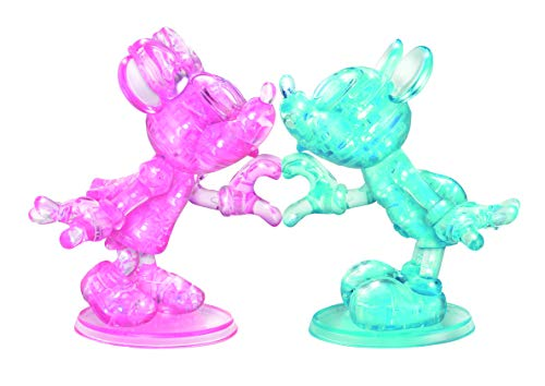 (BePuzzled Deluxe Disney Minnie & Mickey Mouse Heart Hands 3D Crystal Puzzle - 68Piece)