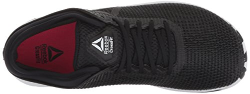 Reebok Women's CROSSFIT Nano 8.0 Flexweave Cross Trainer, Black/White/Twisted Pink, 8.5 M US