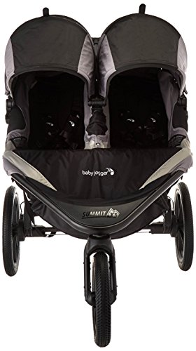 Baby Jogger 2016 Summit X3 Double Jogging Stroller – Black Gray