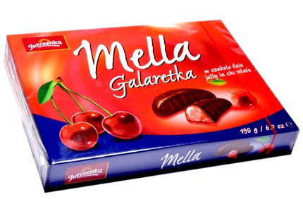 Jutrzenka MELLA Cocolate Coated Cherry Jelly, 6.7oz