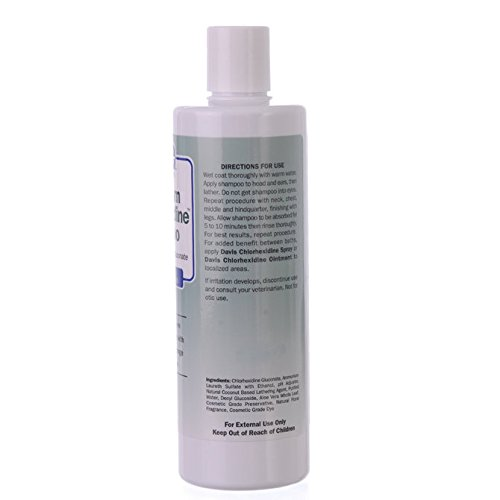 Davis Maximum Chlorhexidine Pet Shampoo, 12-Ounce