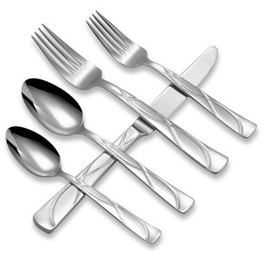 Lenox Vibe 5 Piece Place Setting Flatware 18/10 Stainless