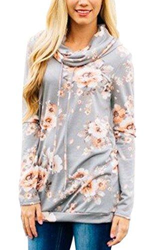 Drawstring Floral Sweater - 2