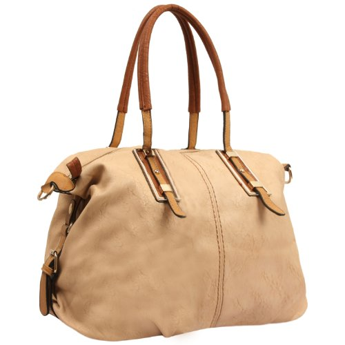 MG Collection Acacia Oversize Shopper Shoulder Bag, Nude, One Size