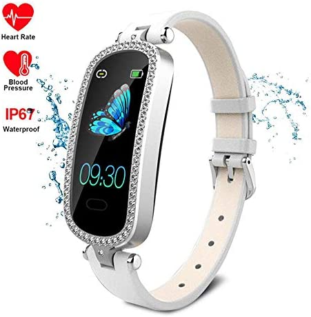 Lesgos Women Smart Fitness Watch, IP67 Waterproof Color Touch Screen Heart Rate Monitor Bracelet with Sleep Monitor Pedometer Calorie Compatible with Android and iOS
