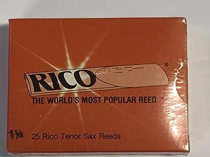 Rico Caja 25 cañas Naranja Saxo Tenor 1,5: Amazon.es: Instrumentos ...