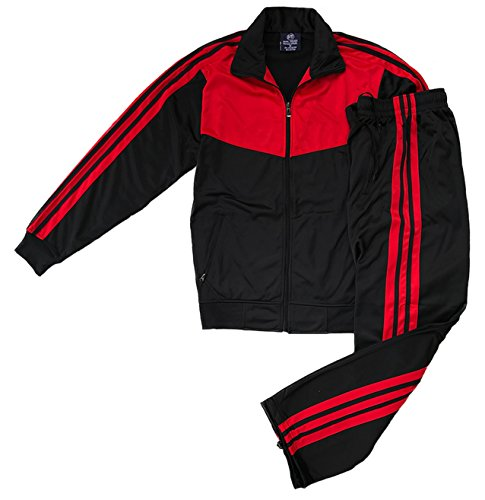 Athletic Men's Warmup Jogging Mode Jogger Essentials Set (Jet Black, M) by Royal Threads