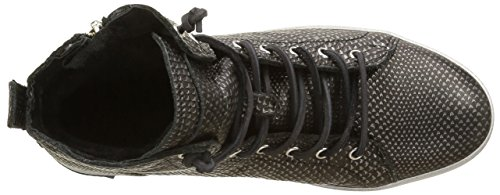 Blackstone Women's Kl62 Hi-Top Trainers Black (Black Metallic) nqsdldNH97
