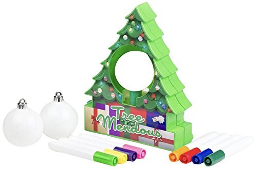 TreeMendous Christmas Tree Ornament Decorating Kit for Kids ages 6+. Top Rated Craft Activity Game, Holiday Toy DIY Ornament Maker (Ornament Base Kit & Refill Bundle)