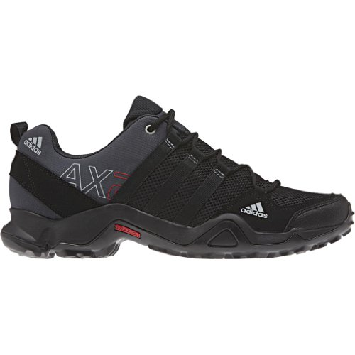 adidas Outdoor Men's Ax2 Hiking Shoe, Dark Shale/Black/Light Scarlet, 10 M US