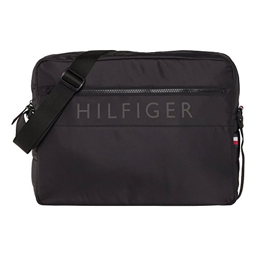 Tommy Hilfiger Light Nylon Messenger - Black (Man-Made) accessories Bags One Size by Tommy Hilfiger