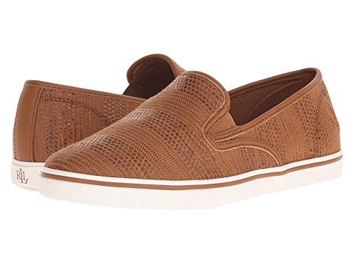 聴くくすぐったいホイッスル[LAUREN Ralph Lauren(ローレンラルフローレン)] レディースウォーキングシューズ?カジュアルスニーカー?靴 Janis Tan Stripe Texture Faux Straw 9.5 (26.5cm) B - Medium