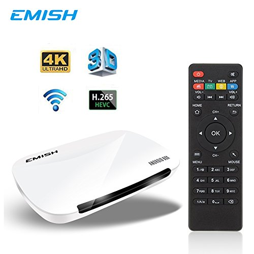 EMISH X700 Android TV Box 6.0, 4K 3D Smart TV Moving Box,1080P Media Blue-Ray Player, Rockchip 3229 Quad Core EMMC 8GB, Built-in Wifi, Game Player for TV, (Media Cache Halloween)