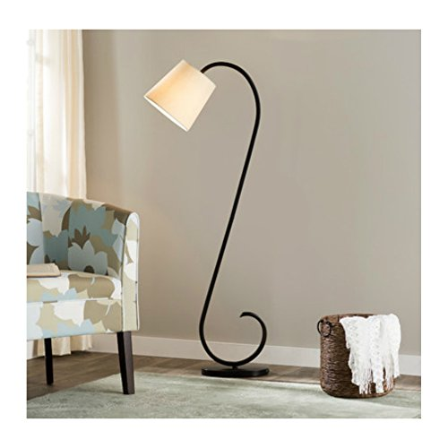 56 Inch Modern & Unqiue S Shape Floor Lamp with Empire Shade for Living Room, Oil Rubbed Bronze - Flooring Lava Stone