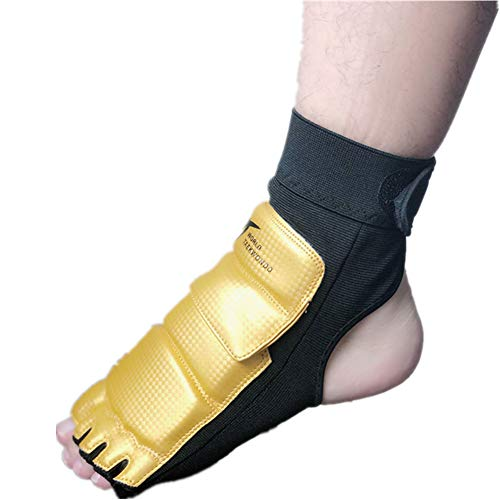 Wonzone Taekwondo Boxing Foot Protector Gear Martial Arts Training Sparring Gear Muay Thai Kung Fu Tae Kwon Do Feet Protector TKD Foot Gear Support for Men Women Kids from Wonzone