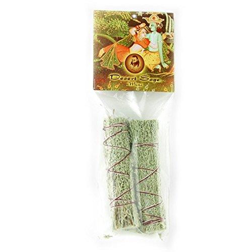 Desert Sage Smudge Stick- 2 Mini Bundles (4''-5'')