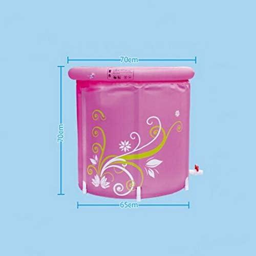 SBWFH ピンクバスタブ - 折りたたみ厚いプラスチックバスタブ浴室バケツ、ポータブルトイレバスタブ