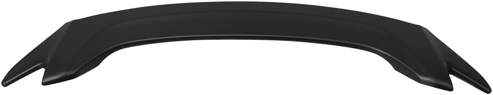 Roof Spoiler Compatible With 2016-2020 Honda Civic Sedan V Style Matte Black ABS Rear Tail Lip Deck Boot Wing by IKON MOTORSPORTS