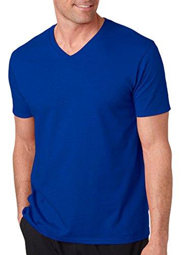 Mens Needle - Gildan G64V00 Men's Softstyle V-Neck T-Shirt Royal 3XL