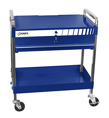 Sunex Tools 8013ABL Service Cart with Locking Top and Drawer