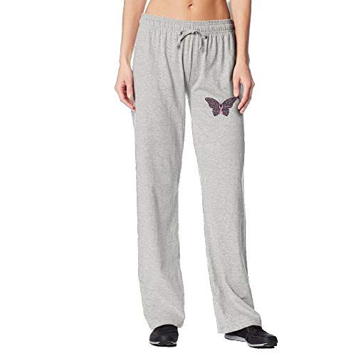 PPUttDJddGH-P Pink Ribbon Butterfly- Breast Cancer Women's Running Sweatpant