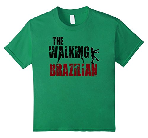 Kids Brazilian gift t shirts, walking Brazil scary zombie tees 12 Kelly (Brazilian Costume For Kids)