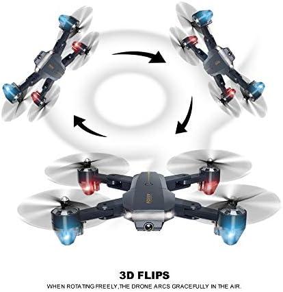Yang YS Drone WiFi FPV avec caméra HD 1080p, avec Maintien de l'altitude, capteur de gravité, décollage/atterrissage à Une clé, pour débutants/Enfants