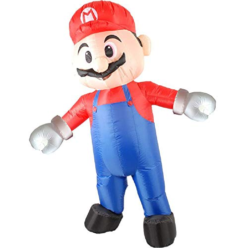 BIGPETS Inflatable Mascot Costume Blow up Festival Dress Outfit Party (Mario)