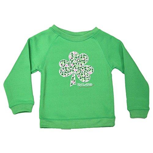 (Traditional Craft Apple Green Shamrock Kids Sweatshirt (9-10 Years))