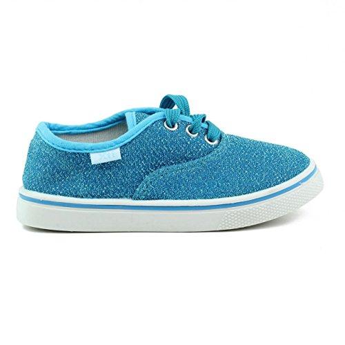 Sneaker für Mädchen XTI 53112 GLITTER AZUL