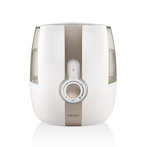 - Homedics Cool Mist Ultrasonic Humidifier| 1.4 Gallon Tank, 65 Hour Runtime, Nightlight, Auto Shut-Off | Clean Tank Technology, BONUS DEMINERALIZATION CARTRIDGE