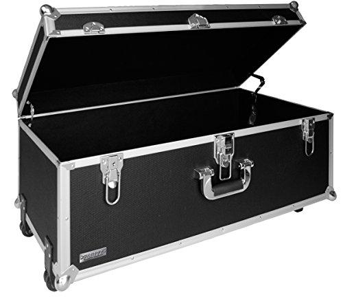 (Vaultz 14 x 30 x 16 Inches Locking Extra-Large Storage Chest with Wheels, Black (VZ00355))