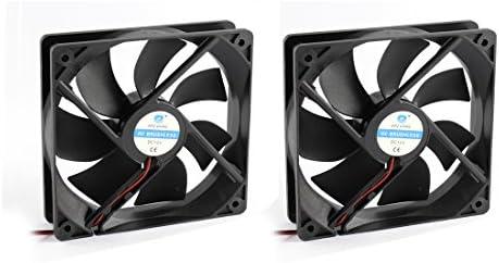 Sourcingmap® 2pcs Ventilador axial de 12V DC sin escobillas con 7 Ventiladores de refrigeración radiador disipador térmico de 12 x 12 x 2,5 cm: Amazon.es: Electrónica