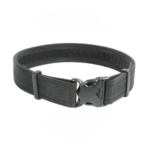 BLACKHAWK! Plain Black Reinforced 2-Inch Web Duty Belt with Loop Inner - Medium